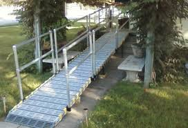 Wheelchair Ramp Handrails Aluminum Handrails Portable Ramps Roll A Ramp