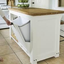 fresh kitchen island with trash storage gl kitchen design
