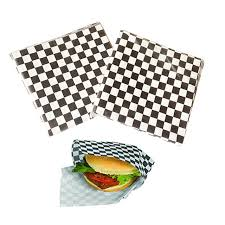 hamburger wrapping paper hot selling 24pc pack black sandwich wrapping paper greaseproof