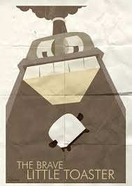 Brave Little Toaster Pixar Minimalist Movie Posters By Ben Ross The Brave Little Toaster
