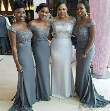 grey bridesmaid dresses cheap the shoulder grey bridesmaid dresses 2017 plus size