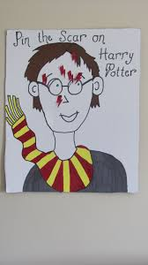 pin the scar on harry potter harry potter party games harry