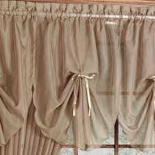 Swag Curtains With Valance Emelia Sheer Fan Swag Valances