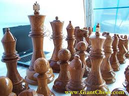 large wooden pieces wooden chess set in brown beautiful indoor and outdoor decor