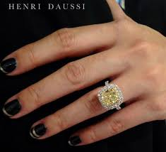 fancy yellow diamond engagement rings 2 3 carat yellow diamond rings henri daussi fancy yellow
