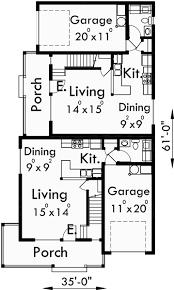 Corner House Floor Plans Duplex House Plans Corner Lot Duplex Plans D 479