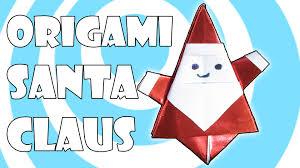 diy origami santa claus tutorial matsuno yukihiko youtube