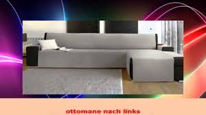 sofa mit ottomane sofabezug mit ottomane chaiselongue links grau