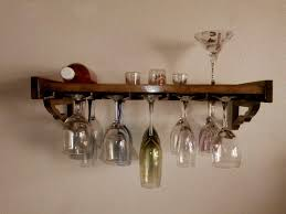 wall mounted wine glass rack uk masata design easy and simple
