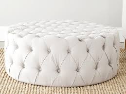 reupholstering a white tufted ottoman u2014 home ideas collection