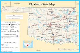 Oklahoma travel maps images Map of oklahoma vacations travel map holiday jpg