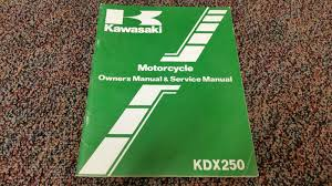 kawasaki motorcycle kx250 kx250 b3 owner u0027s manual u0026 service