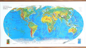 world maps raised relief world map