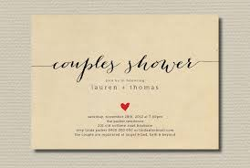couples wedding shower invitations wedding shower invitation couples with heart