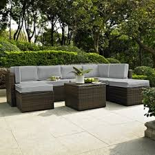 shop for palm harbor 8 piece outdoor wicker seating set with grey
