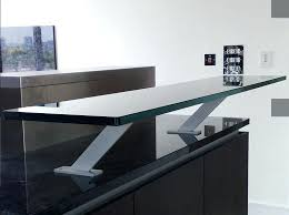 Glass Breakfast Bar Table Breakfast Bar Table Kitchen Glass Breakfast Bar Table Top Mounted