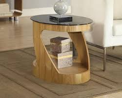 Curved Nightstand End Table Unique Curved Wood Coffee Table U2014 Desjar Interior Curved Wood