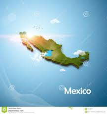 Map Mexico by Realistic 3d Map Of Mexico Stock Illustration Image 55228447
