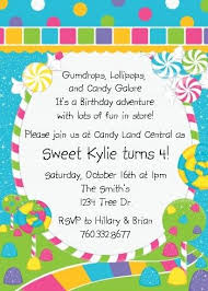 candyland birthday invitations marialonghi com