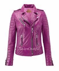pink motorcycle jacket genuine leather jacket women genuine leather jacket women