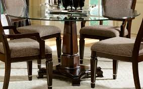 Round Glass And Wood Dining Table MonclerFactoryOutletscom - Contemporary glass top dining room sets