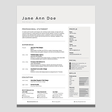 Professional Fonts For Resume Personalize A Modern Resume Template In Ms Word