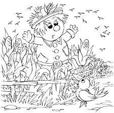 scarecrow coloring herfst kleurplaten