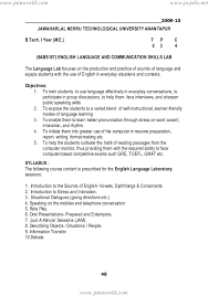 Sample Resume For Leasing Consultant by Jntua Mechanical Engineering R09 Syllabus Book