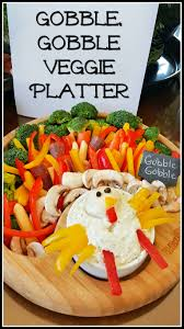 for the love of food gobble gobble turkey shaped vegetable platter