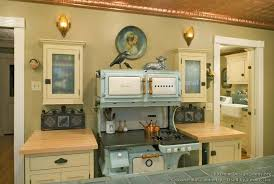 Antique Green Kitchen Cabinets Lovely Green Kitchen Cabinets With Vintage Furniture Decoration