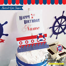 nautical cake toppers nautical cupcake kit printable for nautical birthday party in 3