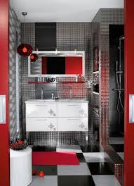 Red And Black Bathroom Ideas Interior Home Design