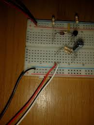 led color organ step now put the black wire form audio socket and