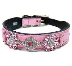 swarovski dog necklace images Pink luxury designer dog collars leads jpg