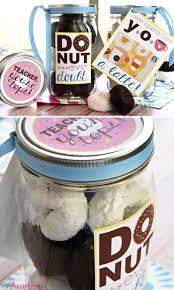 teacher appreciation donuts u0026 coffee mason jar gift free