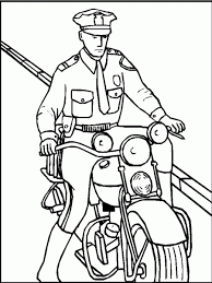 police motorcycle coloring page in coloring pages omeletta me