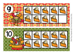 thanksgiving turkey ten frame cards by pink posy paperie tpt