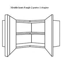 hauteur d une cuisine meuble haut d angle pour cuisine