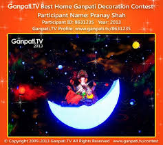 Home Decoration Videos Pranay Shah Home Ganpati Picture 2013 View More Pictures And