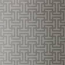 anna french rymann wallpaper in metallic silver