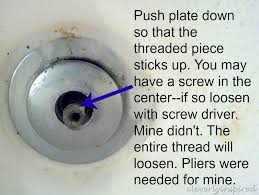 How To Open Bathtub Drain Cover How To Remove A Tub Drain