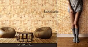 Stone Wall Mural Designer Natural Stone Wall Cladding Tiles Ideas For Interior Exterior