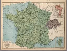 Alsace Lorraine Map France And Switzerland David Rumsey Historical Map Collection