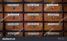 closeup very old apothecary cabinet stock photo 529300681
