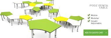 podz penta classroom tables student desk classroom furniture