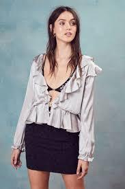 open blouse bette open back blouse for lemons