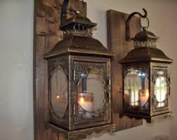 Wall Sconce Set Of 2 Lantern Pair Wall Decor 2 Wall Sconces Housewarming Gift
