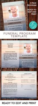 print funeral programs sunset printable funeral program ready to edit print simply