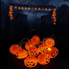 pumpkin lights 20 led party pumpkin lights string fairy l