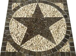 30 sq texas star mosaic marble medallion tile floor wall